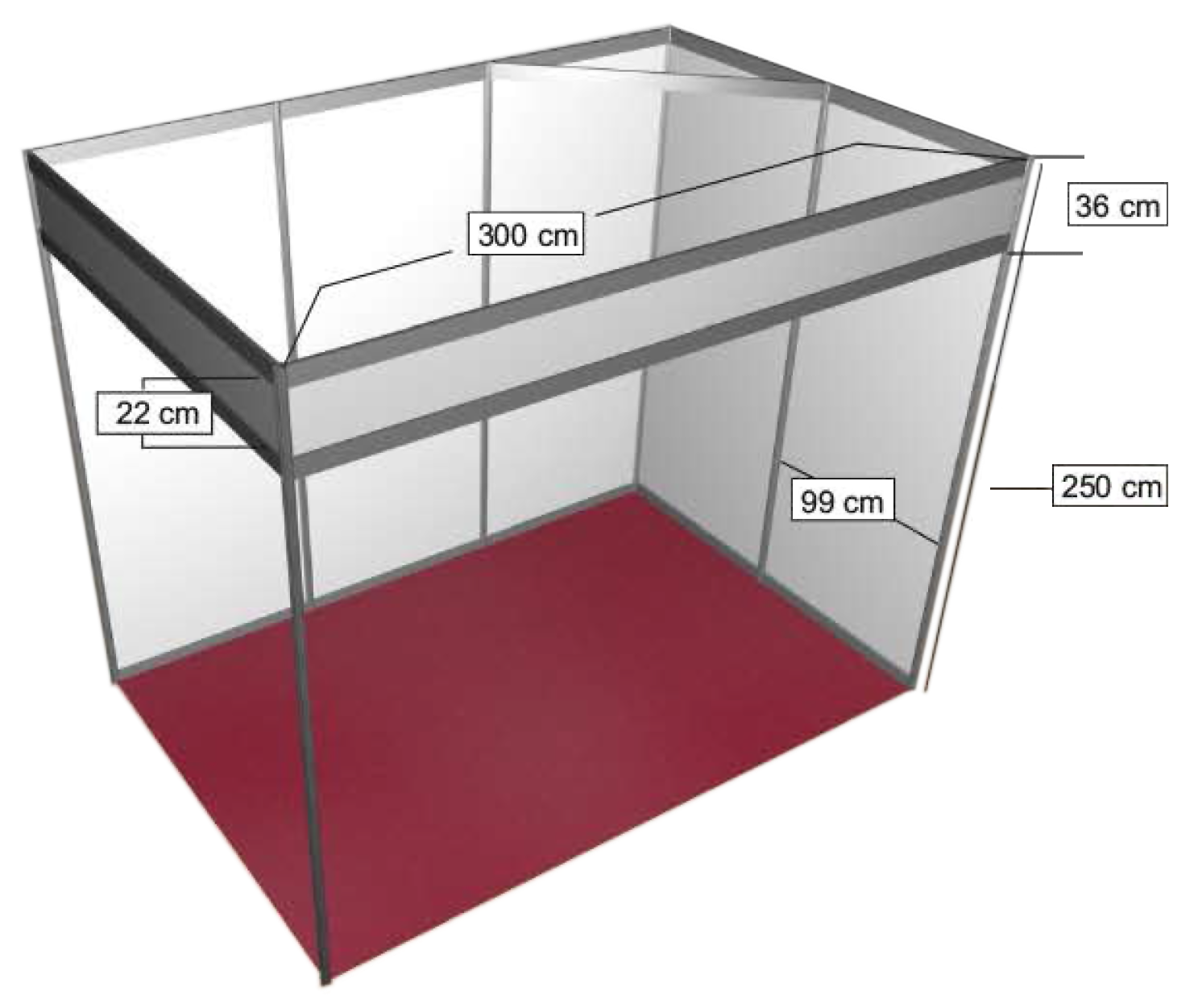 Pin stand modular 3x2 m pdf on pinterest for Un stand